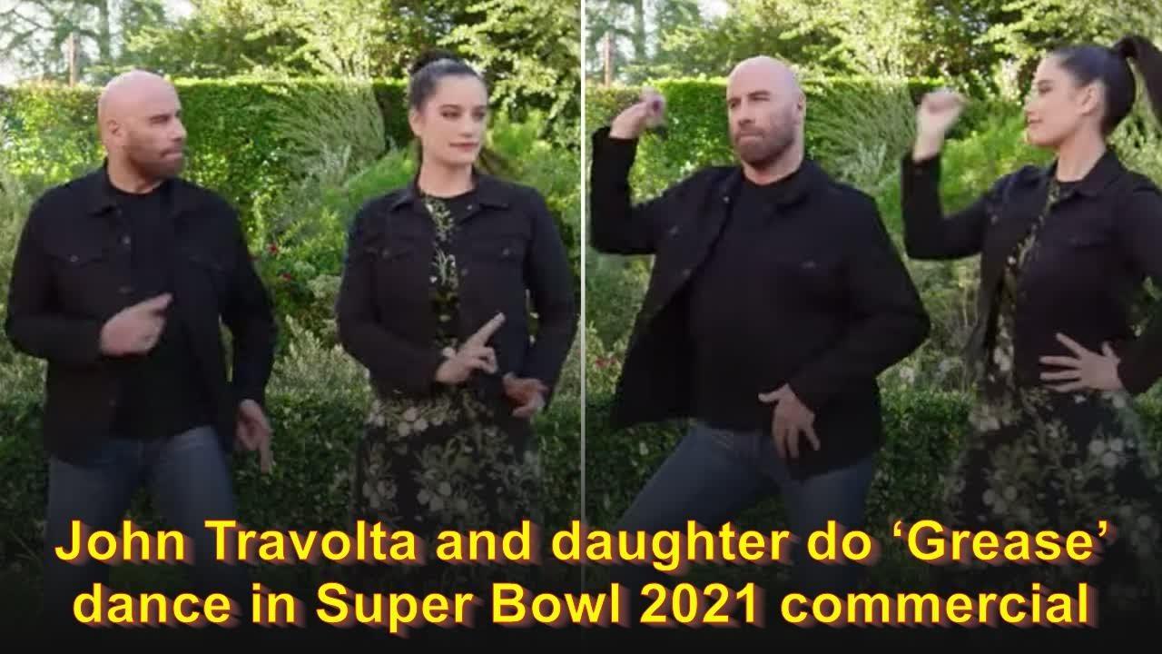 John Travolta, Daughter Ella, recreate 'Grease,' Dance in Star Studded Super Bowl Ad