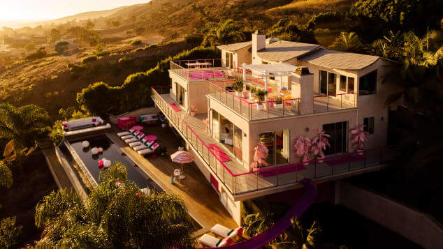 Malibu Barbie Dream House Available to Rent on Air BNB