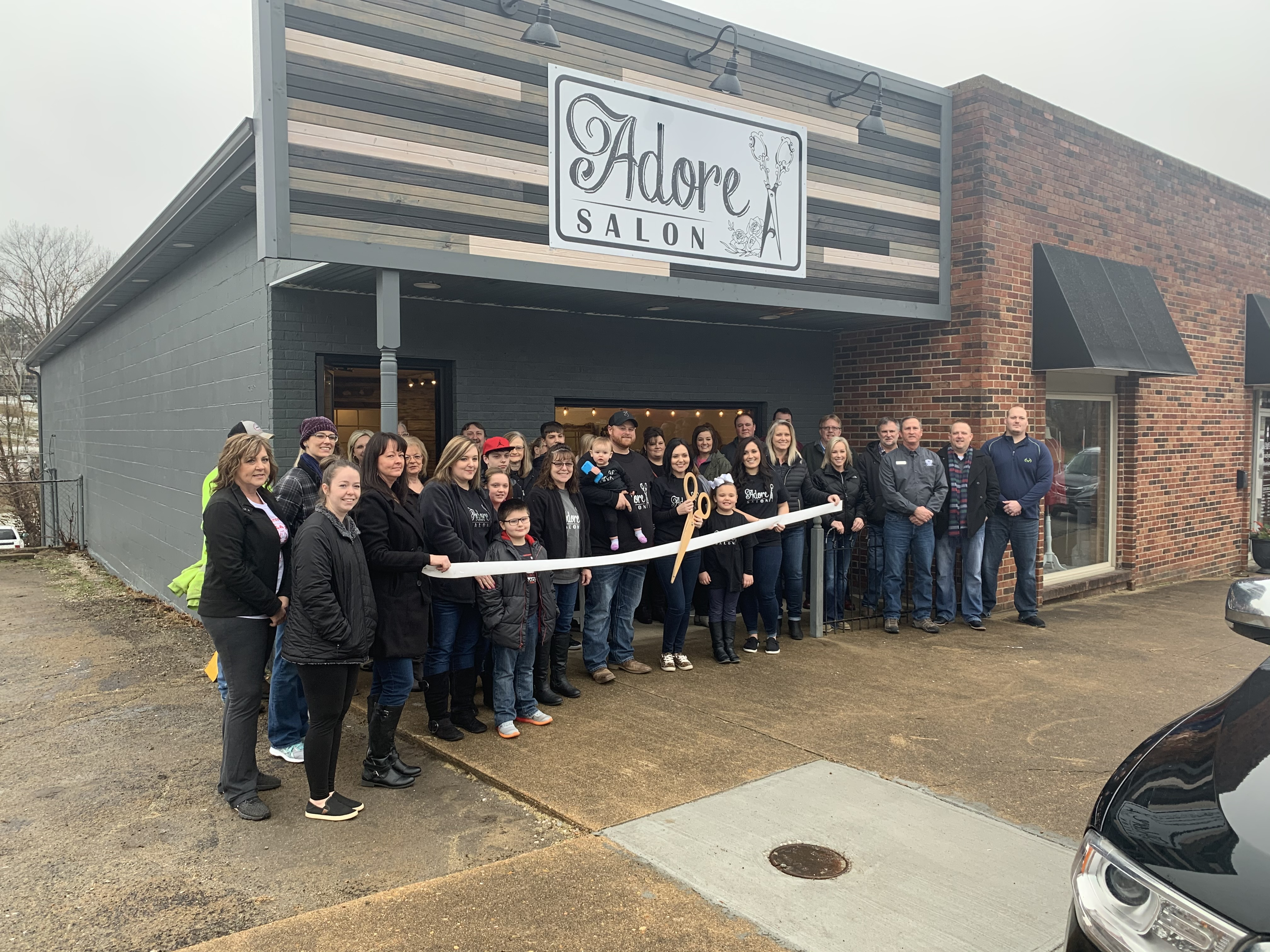Chamber Ribbon Cutting for Adore Salon