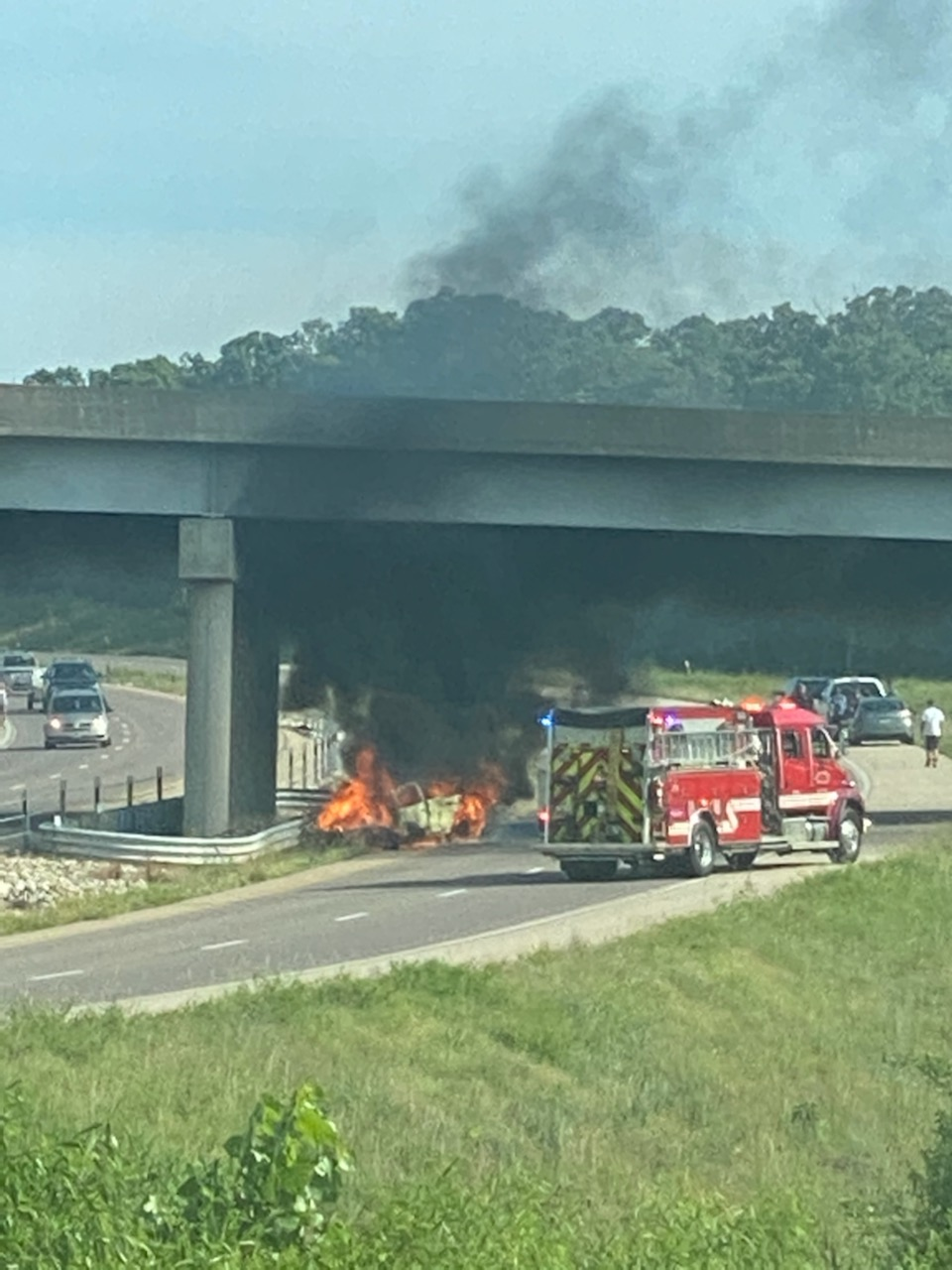 Vehicle Fire Closes Southbound Highway 67 in Jefferson County