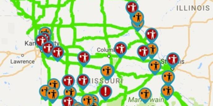 The Traveler Information Map From MODOT